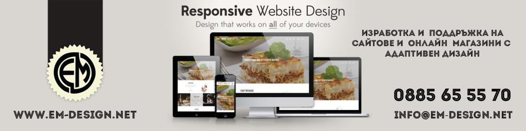 Изработка на сайтове с адаптивен дизайн в Пловдив